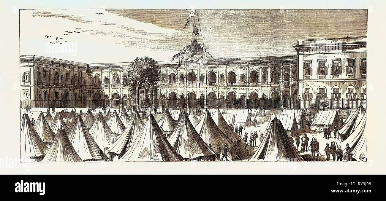 The Abdin Barracks, Cairo, Egypt, Where Arabi Was Imprisoned While in British Custody - Stock Image