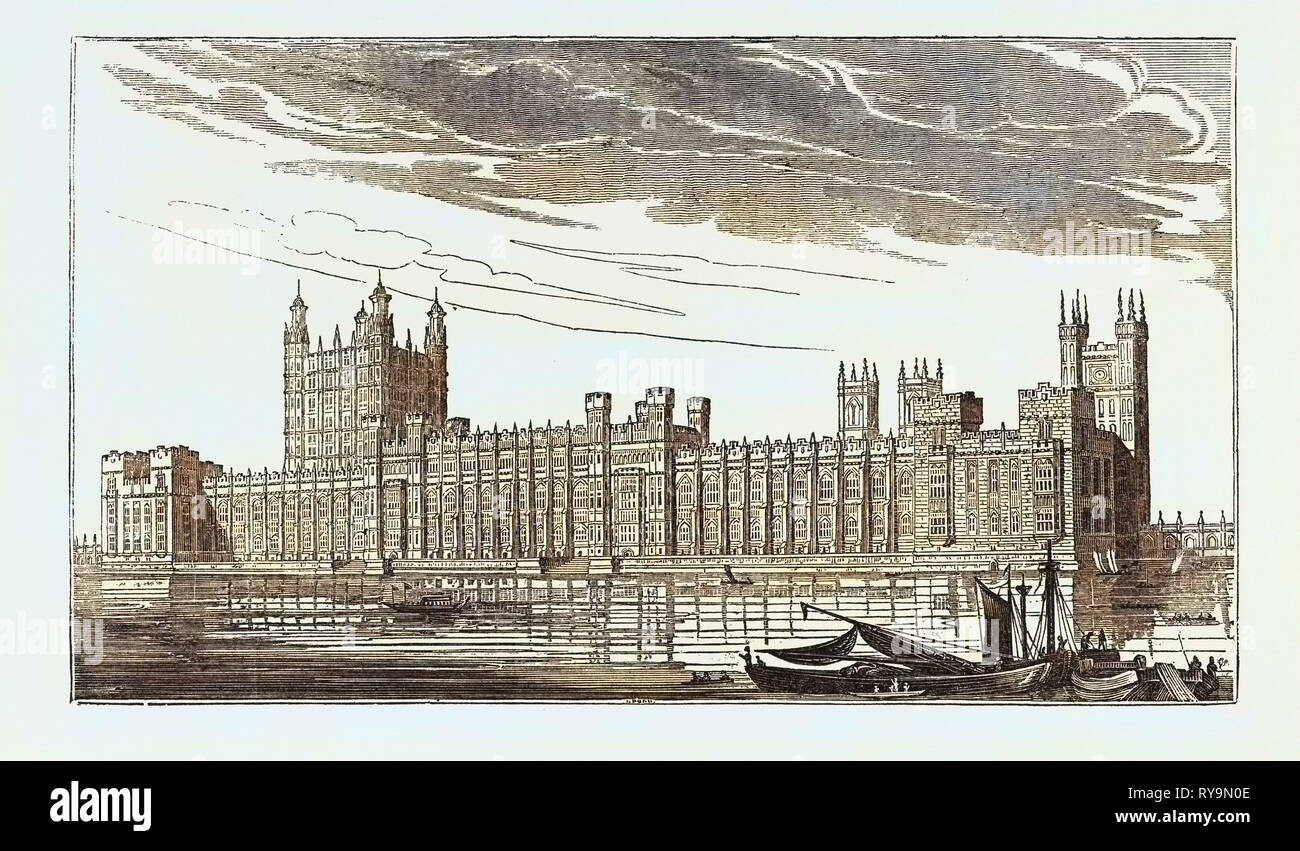 THE NEW HOUSES OF PARLIAMENT, WESTMINSTER, LONDON, UK Stock Photo