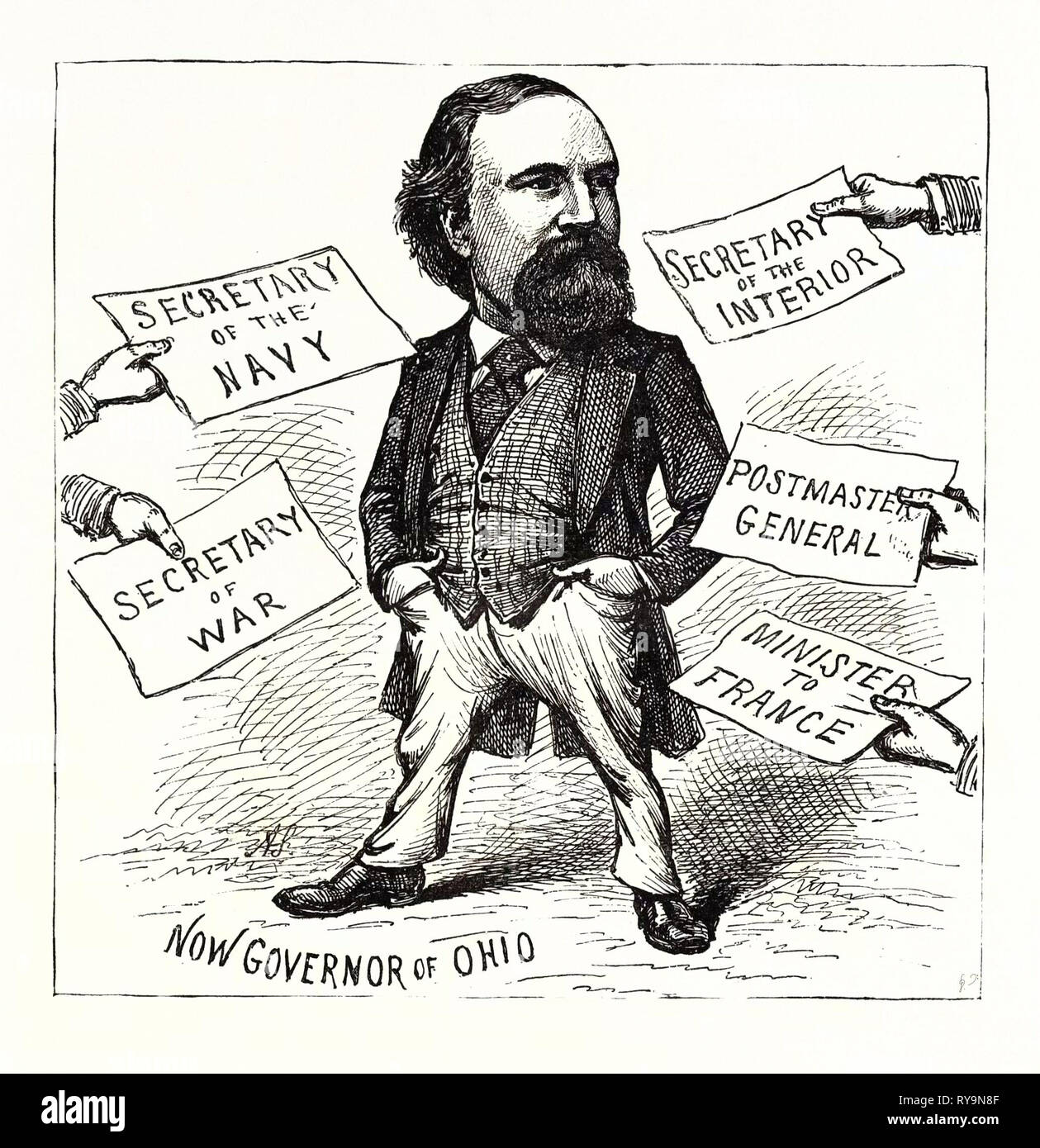 A Case of Embarrassment of Riches, Engraving 1880 1881 - Stock Image