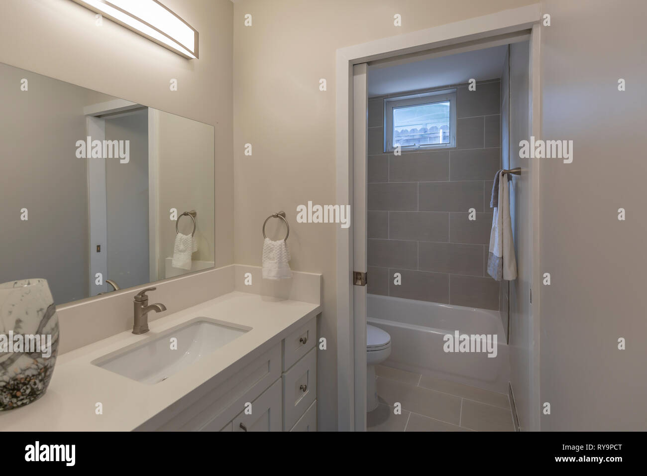Updated Bathroom interior Stock Photo