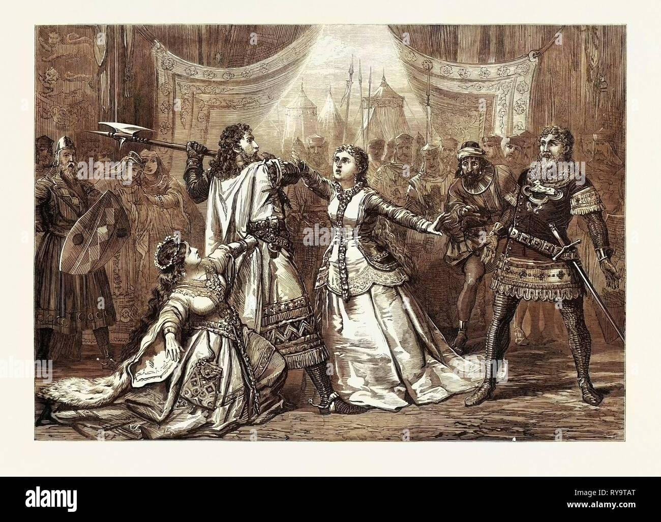 Scene from 'Il Talismano,' at Drury Lane Theatre, London, UK - Stock Image