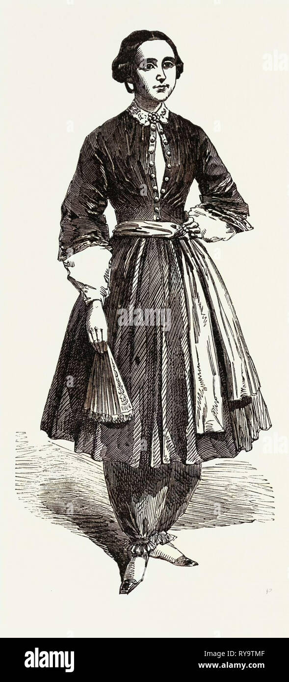 Amelia Bloomer, Originator of the New Dress - Stock Image
