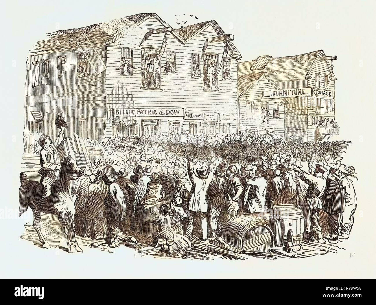 Lynching in San Francisco, United States of America - Stock Image