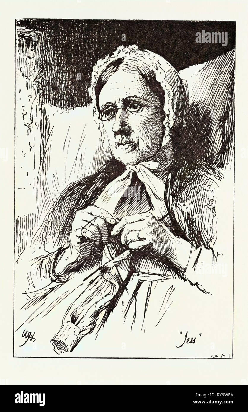 Jess, from a Window in Thrums, 1893 Engraving - Stock Image
