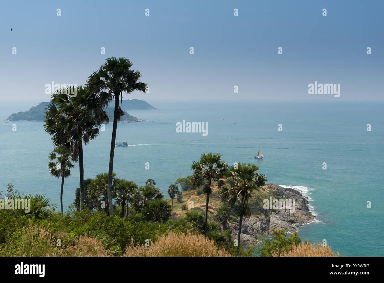 Promthep Cape, Phuket, Thailand Stock Photo