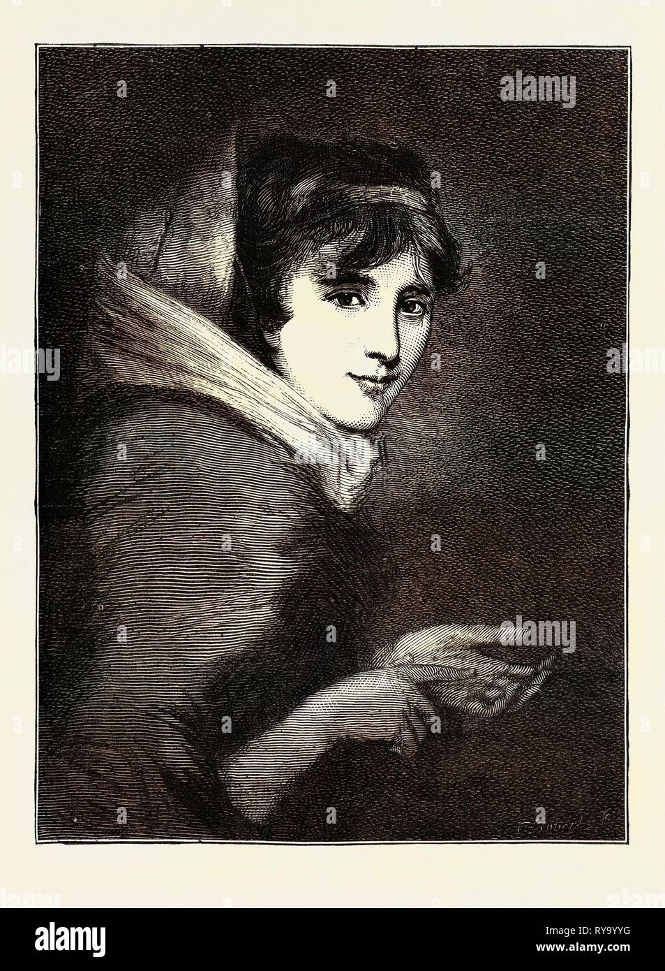 Lady Smith at the Age of 16 or 17, Died February 3, Aged 103 Years and Nearly Nine Months - Stock Image