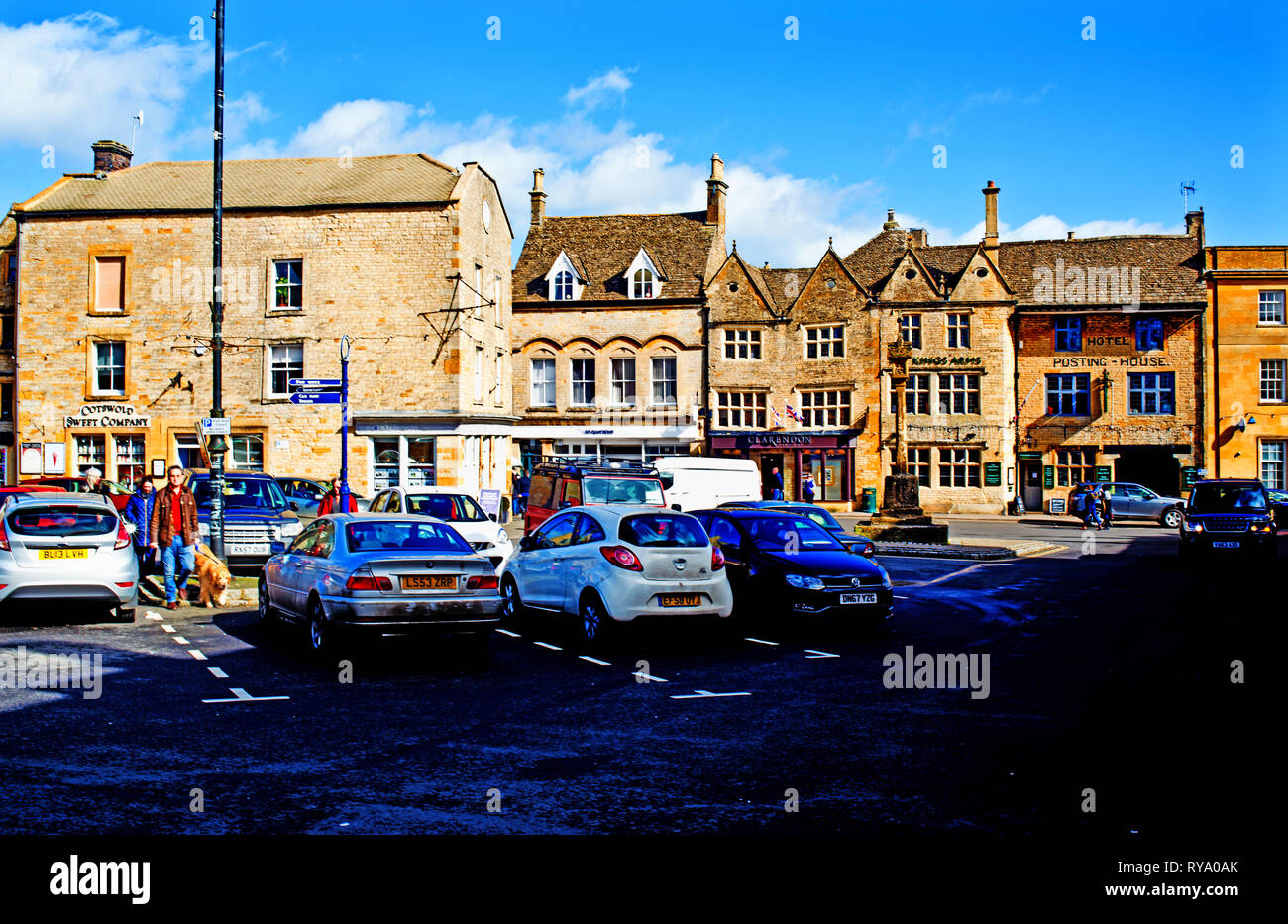 Stow on the wold, Cotswolds, Gloucestershire, England Stock Photo