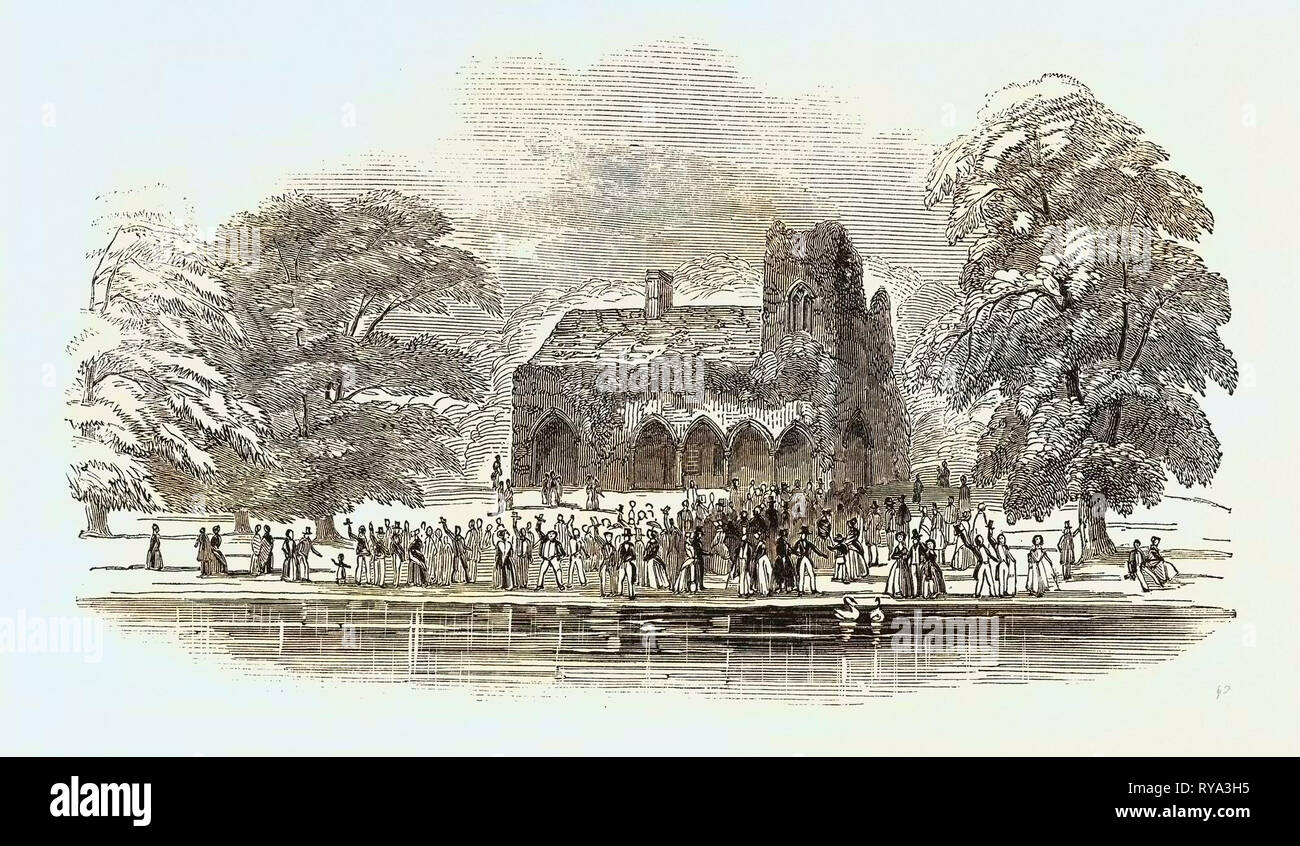 The Lord Mayor's View of the Thames: Medmenham Abbey, UK, 1846 Stock Photo