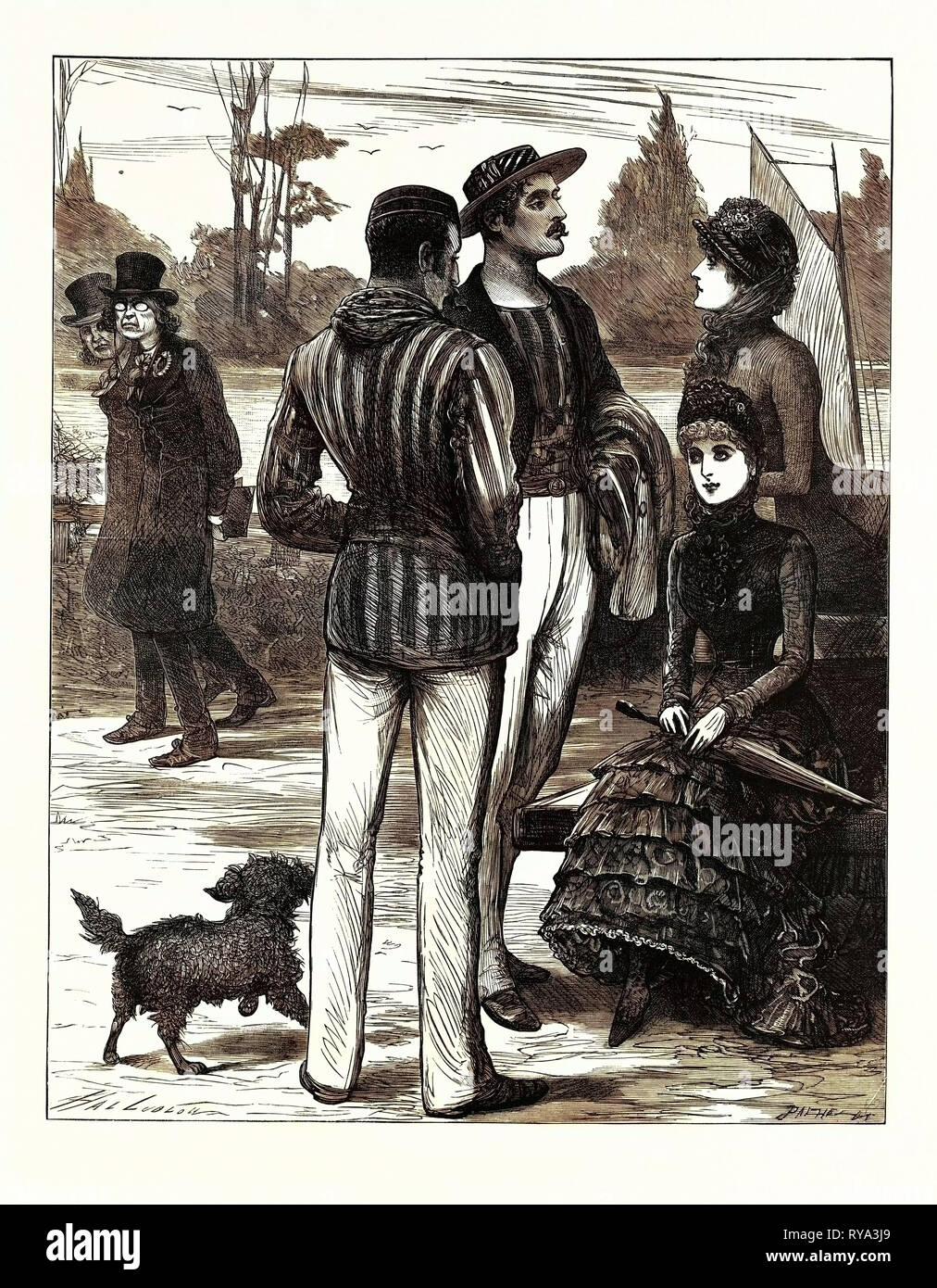 Athletics V. Aesthetics. 1883 - Stock Image