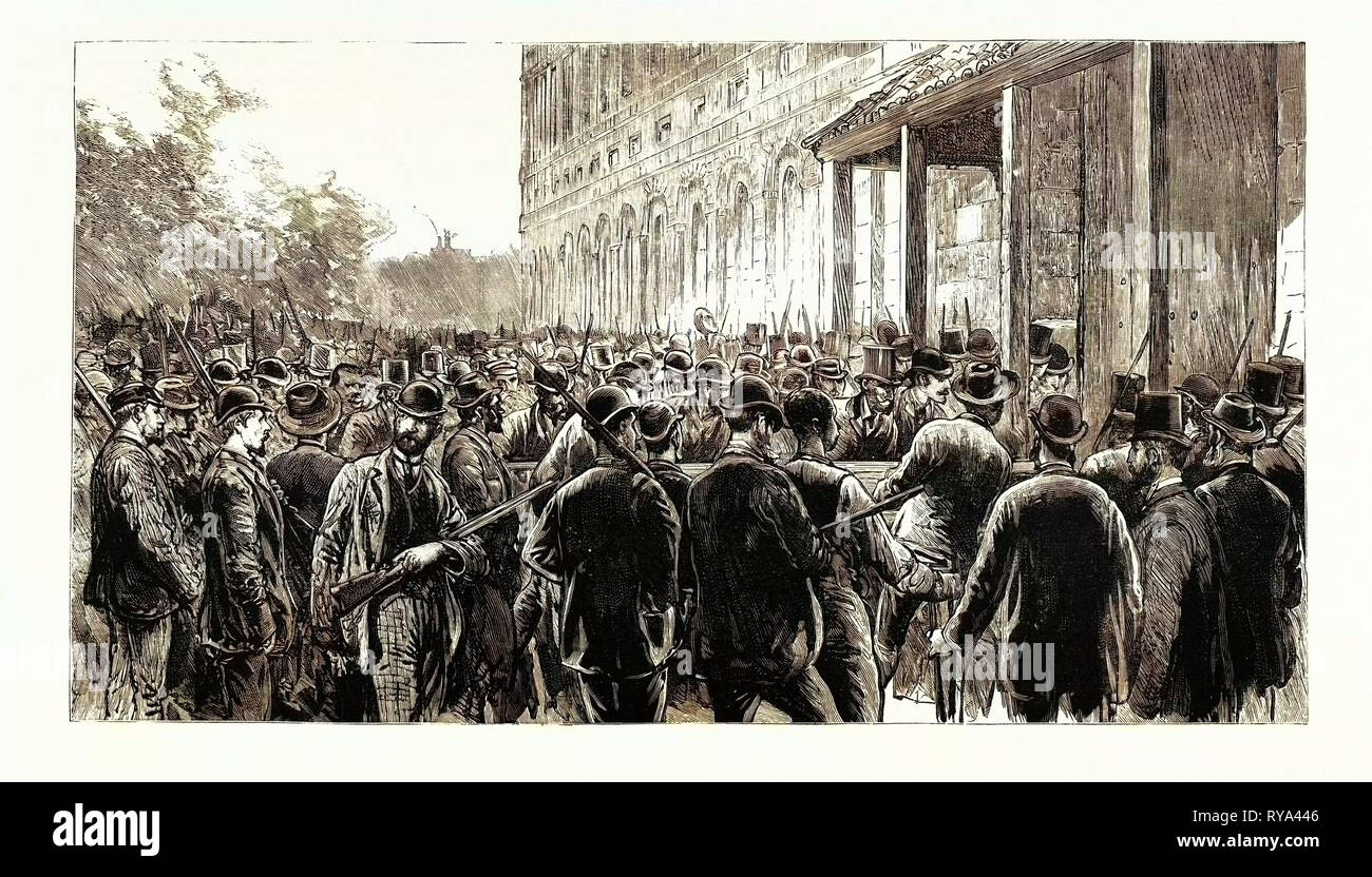 The Lynching of Italians at New Orleans: The Lynchers Breaking Into the Prison - Stock Image