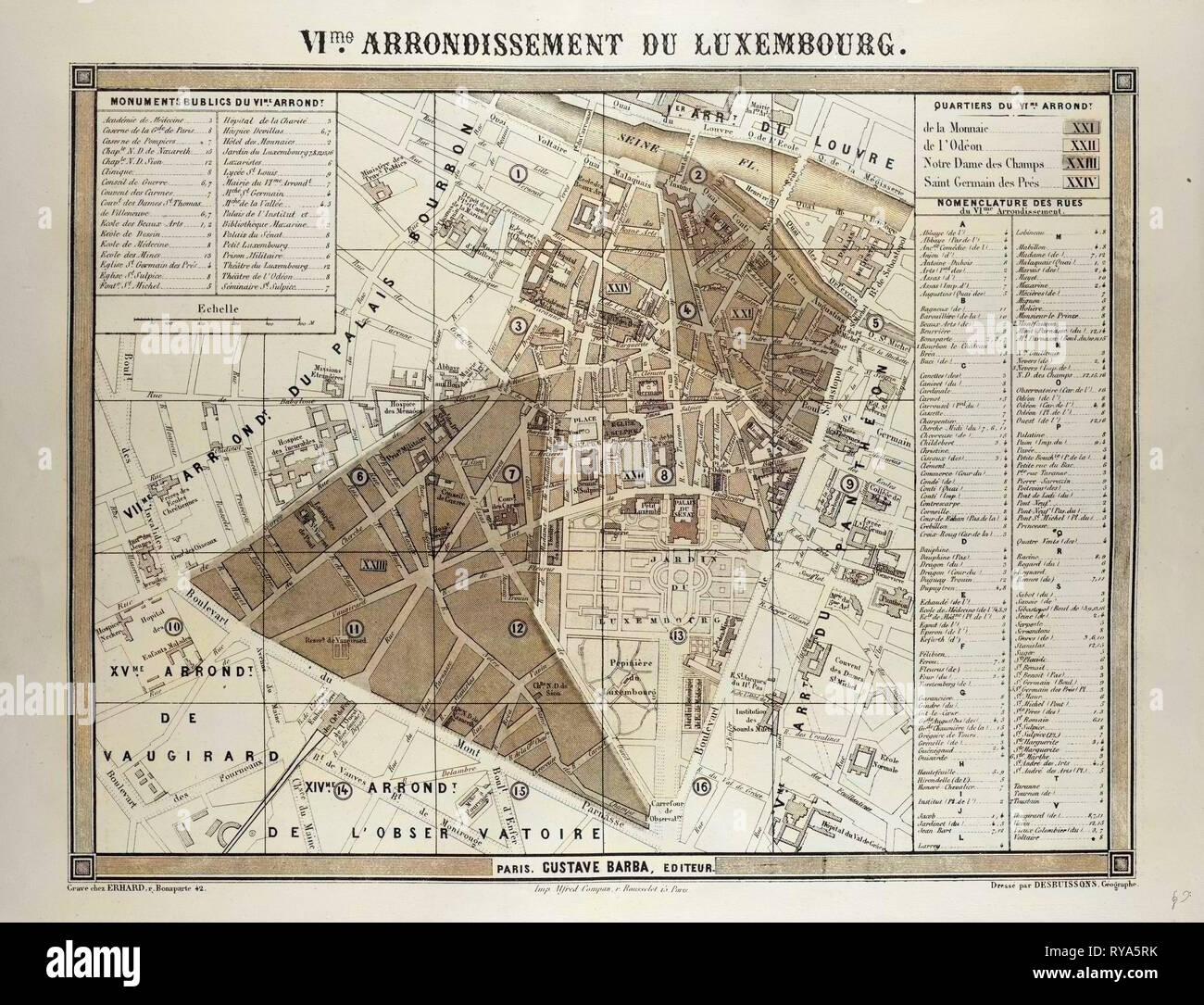 Map Of Paris France 6th Arrondissement.6th Arrondissement Du Luxembourgparis Stock Photos 6th