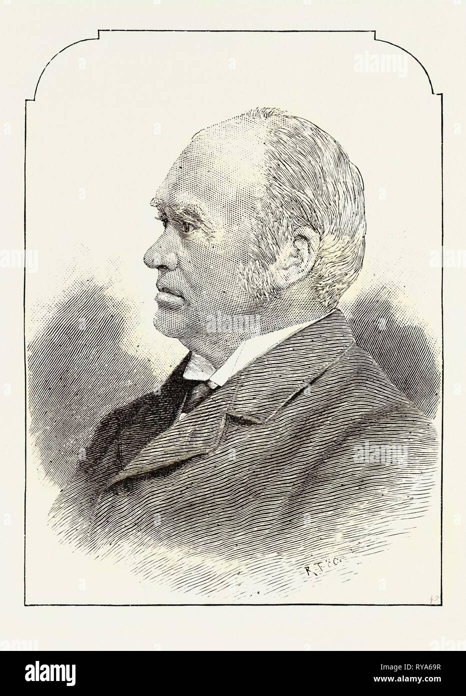 The Hon. J.J.C. Abbott Canadian Premier - Stock Image