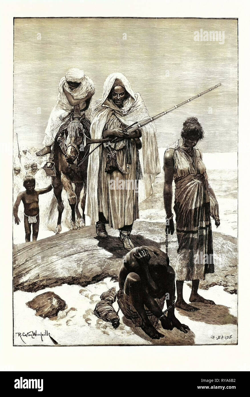 Morocco Slave-Traders Returning from Timbuctoo - Stock Image
