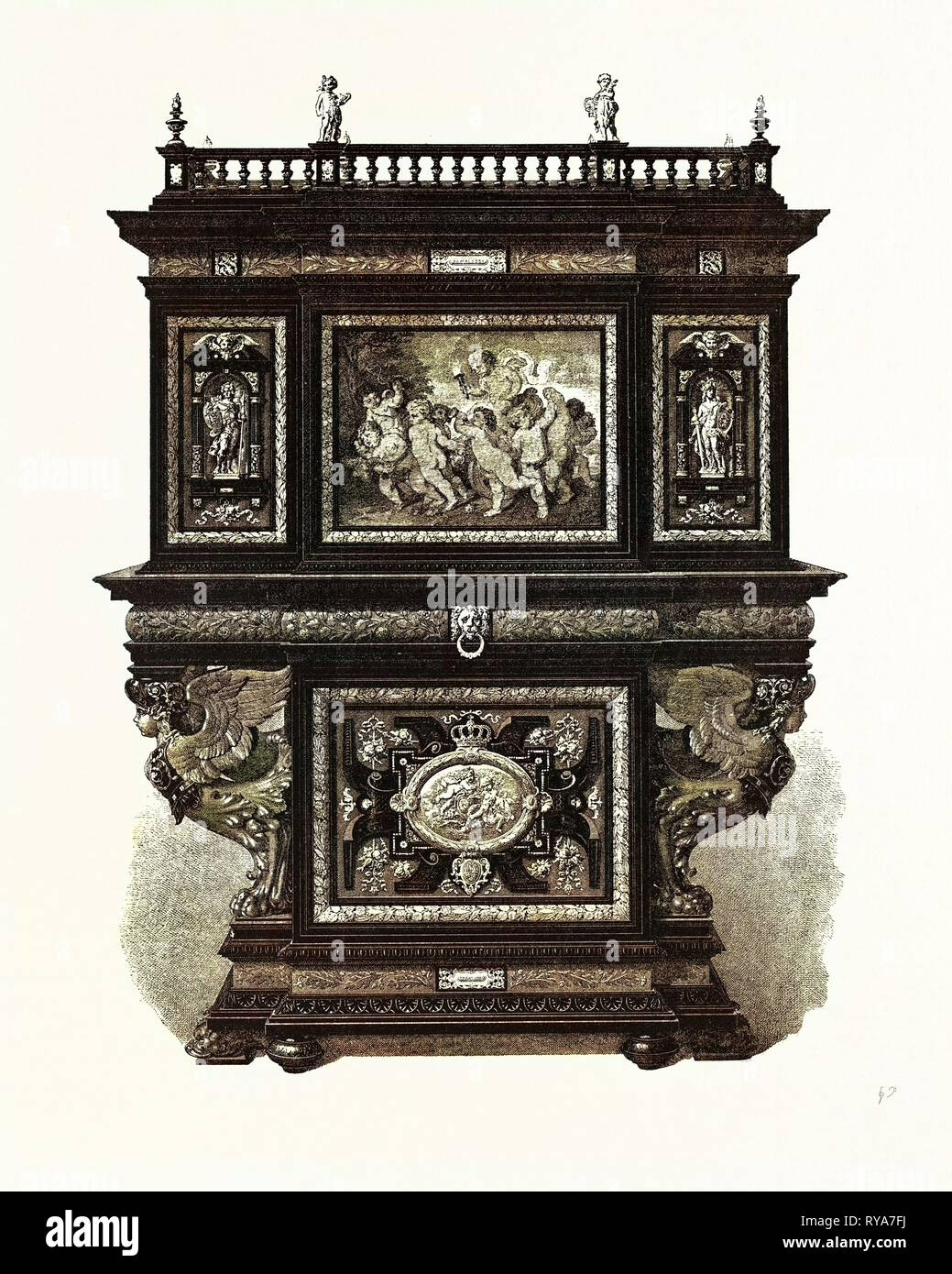 Cabinet Presented to the Crown Prince and Princess of Austro-Hungary - Stock Image