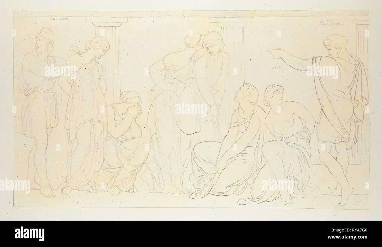 The Punishment of the Unfaithful Hand Maidens of Penelope - Stock Image