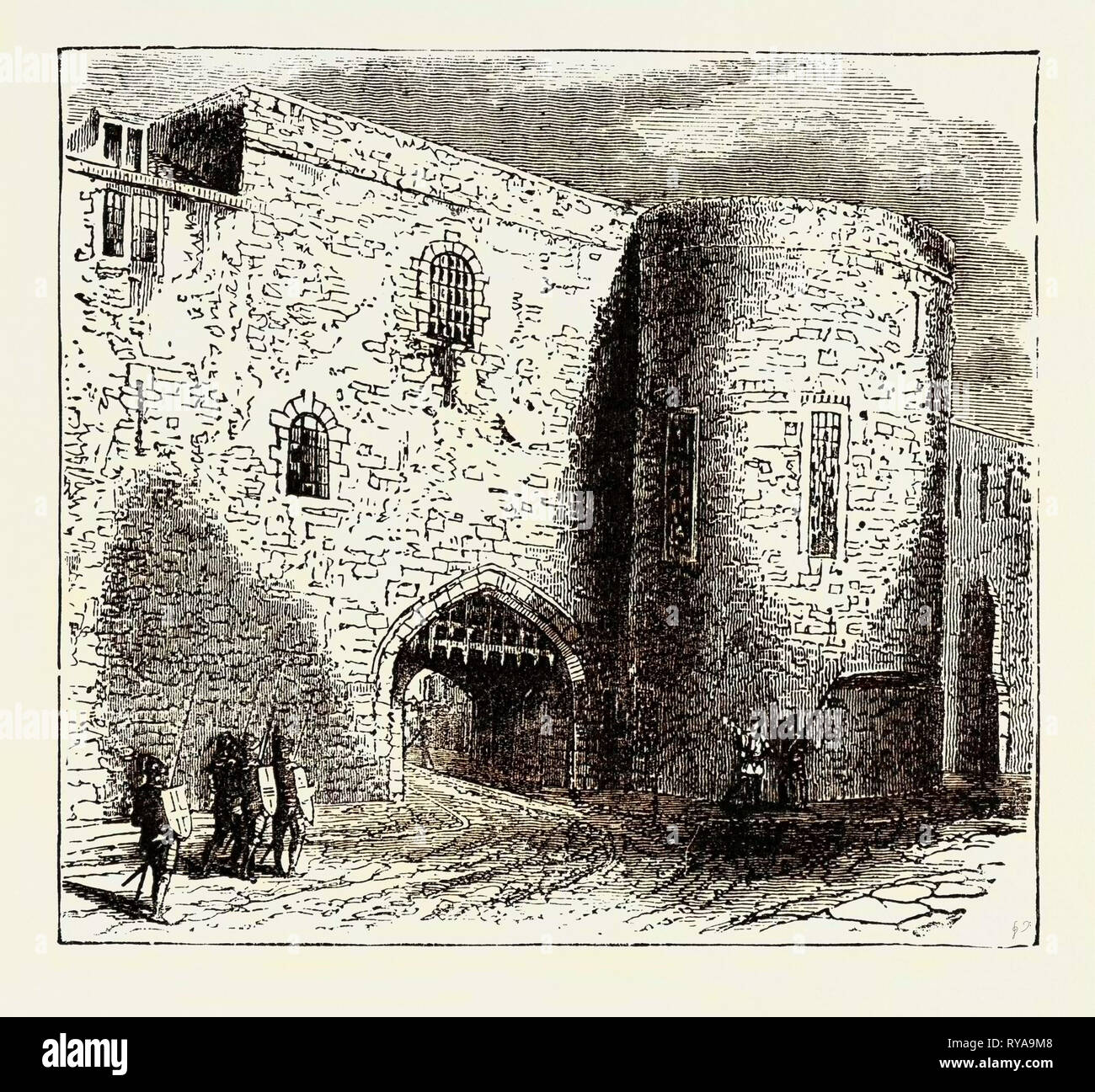 The Bloody Tower in the Tower of London the Place of Confinement of the Two Young Princes - Stock Image