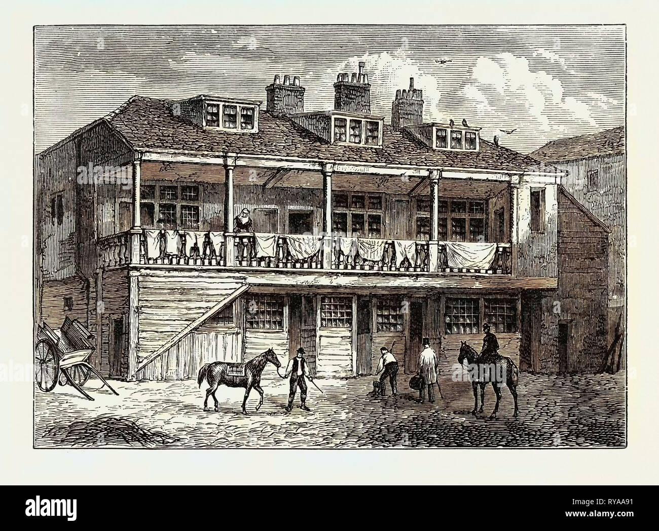 Yard of the Black Lion Whitefriars London - Stock Image