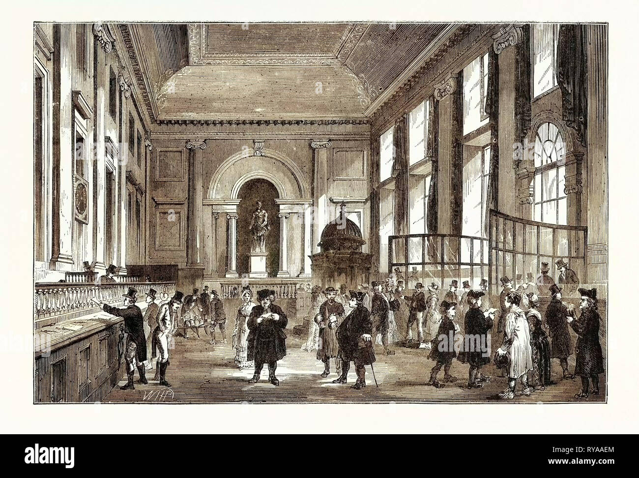 Dividend Day at the Bank 1770 London - Stock Image