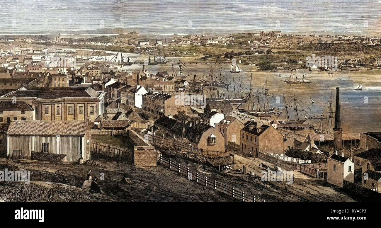 Sidney in 1861 - Stock Image