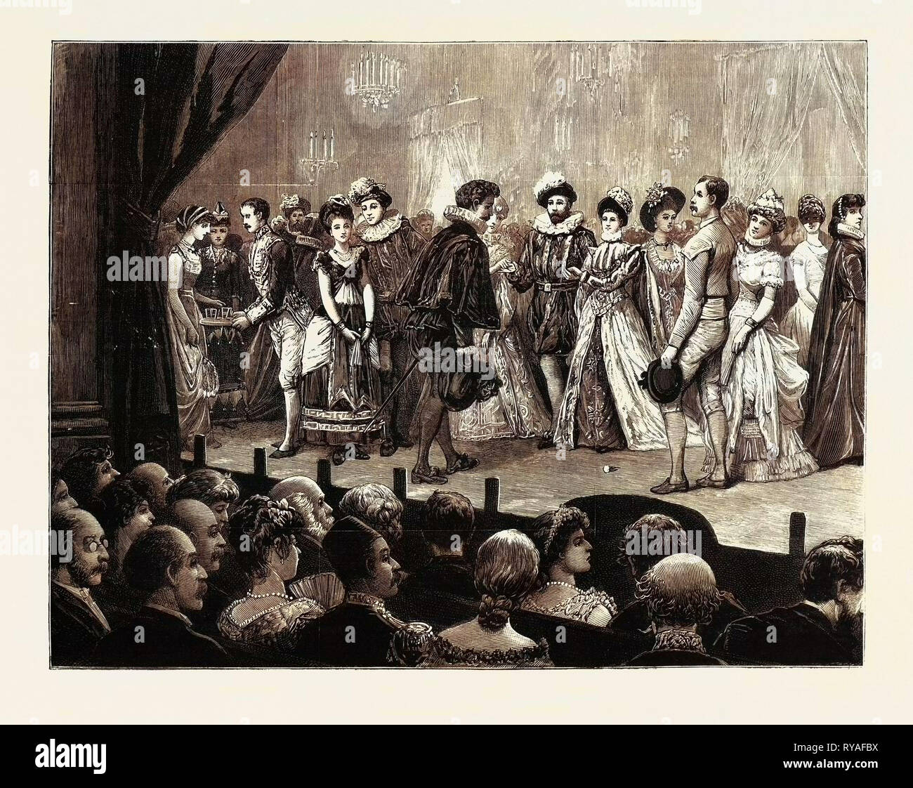 Amateur Performance of 'One Hour' at the British Embassy, Constantinople, 'the Nursery Rhyme Quadrille - Stock Image