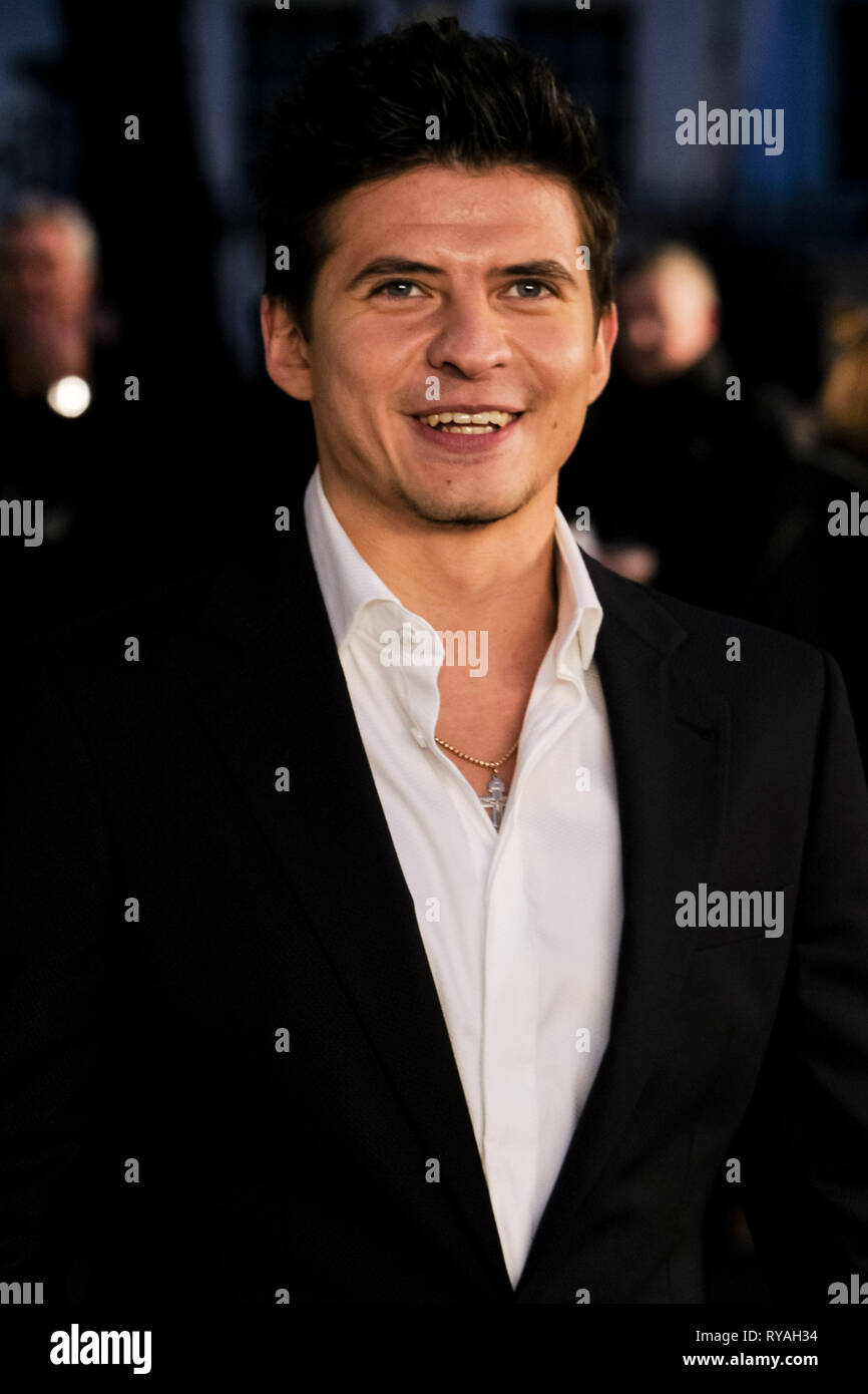 London, UK. 12th Mar 2019. Oleg Ivenko poses on the black carpet at The UK Premiere of The White Crow on Tuesday 12 March 2019 at Curzon, Mayfair, London. Picture by Credit: Julie Edwards/Alamy Live News - Stock Image