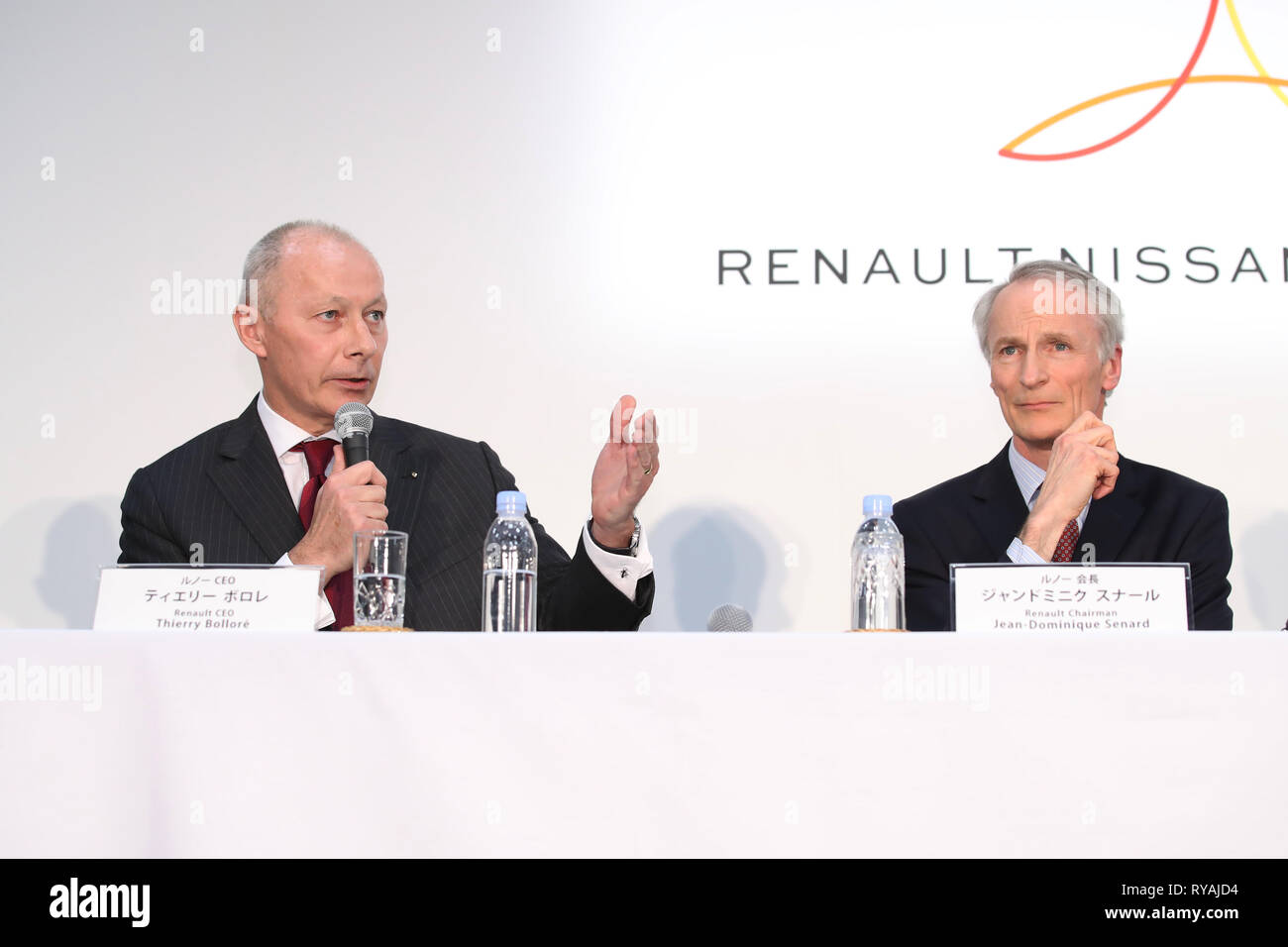 Renault CEO Thierry Bollore, left, and Renault Chairman Jean