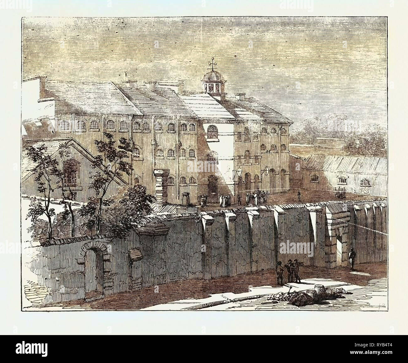 Gaol at Lewes in which the Russian Prisoners Are Confined 1854 - Stock Image