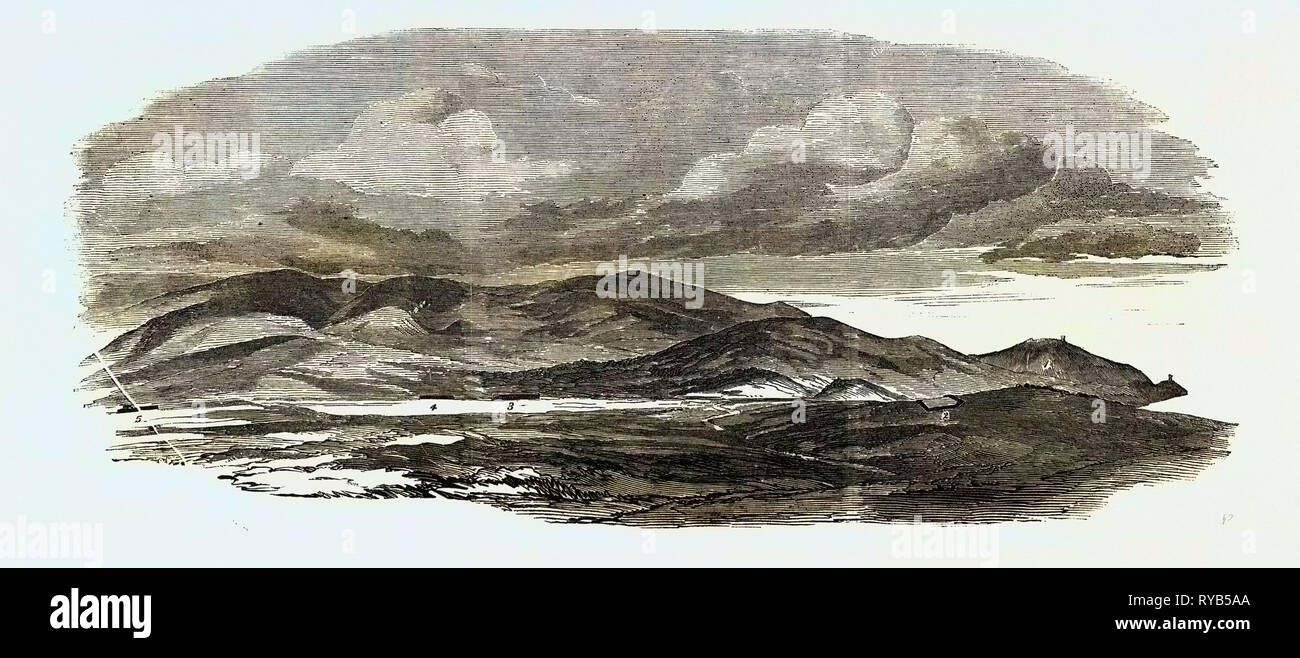 The Crimean War: The Siege of Sebastopol: Portion of Redoubt Occupied and Evacuated by the Russians 1854 Stock Photo