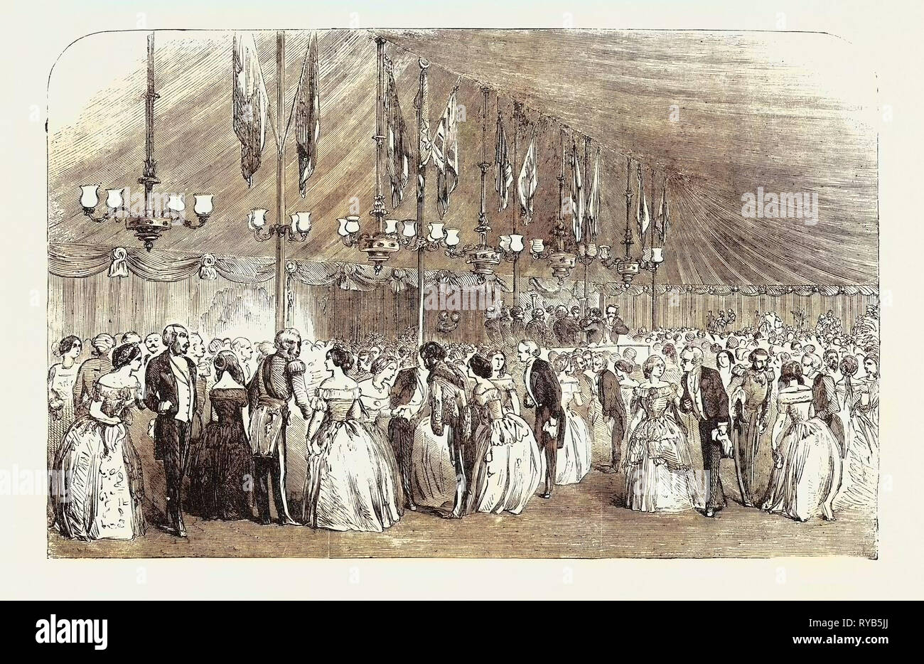 Ball at Hawkstone to Commemorate the Majority of the Hon. Rowland Clegg Hill 1854 - Stock Image