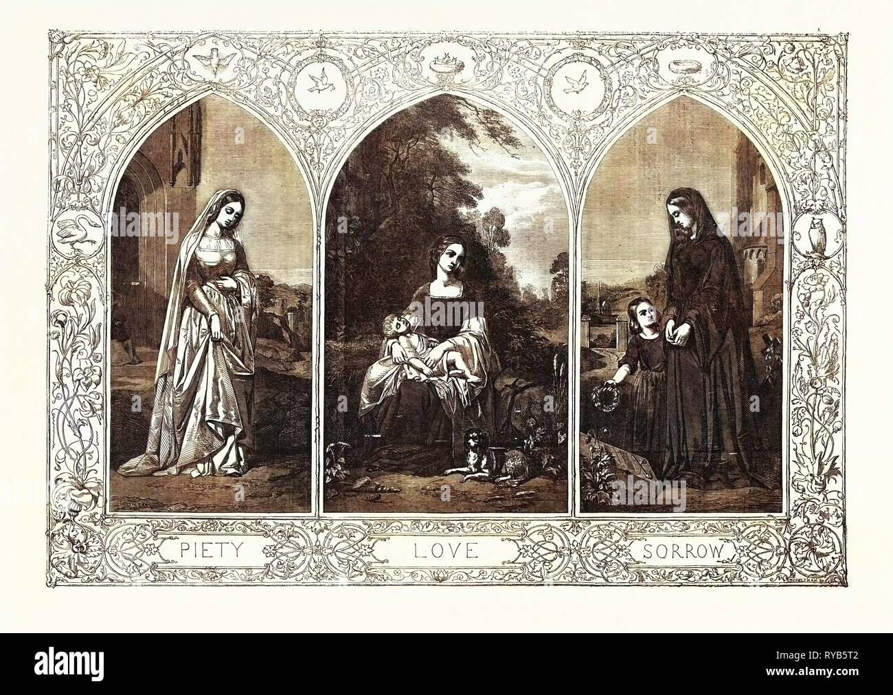Piety Love Sorrow - Stock Image
