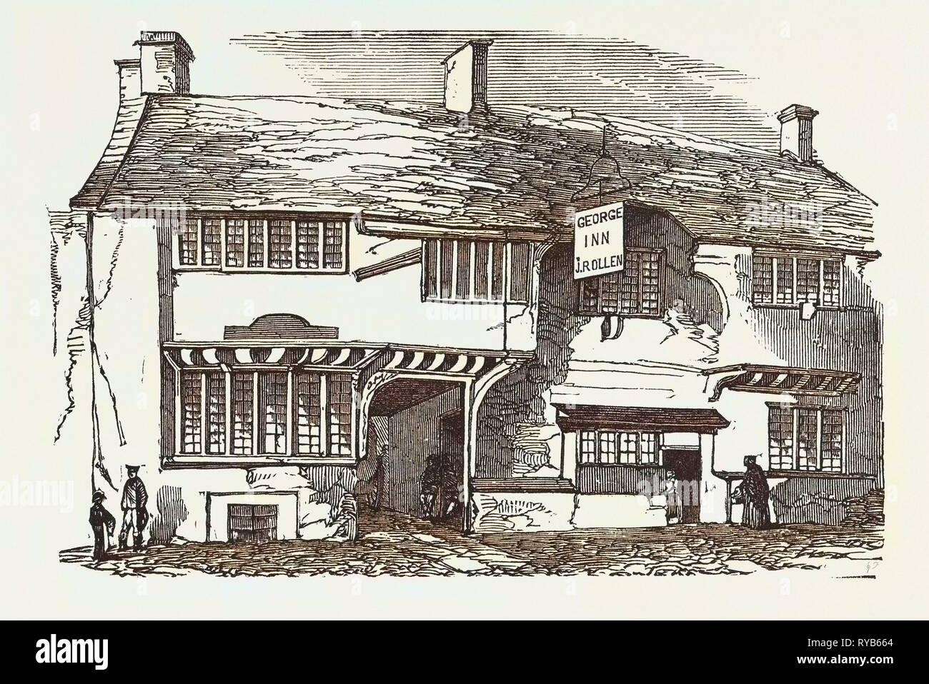 The Old George Inn, Yeovil, 1853 - Stock Image