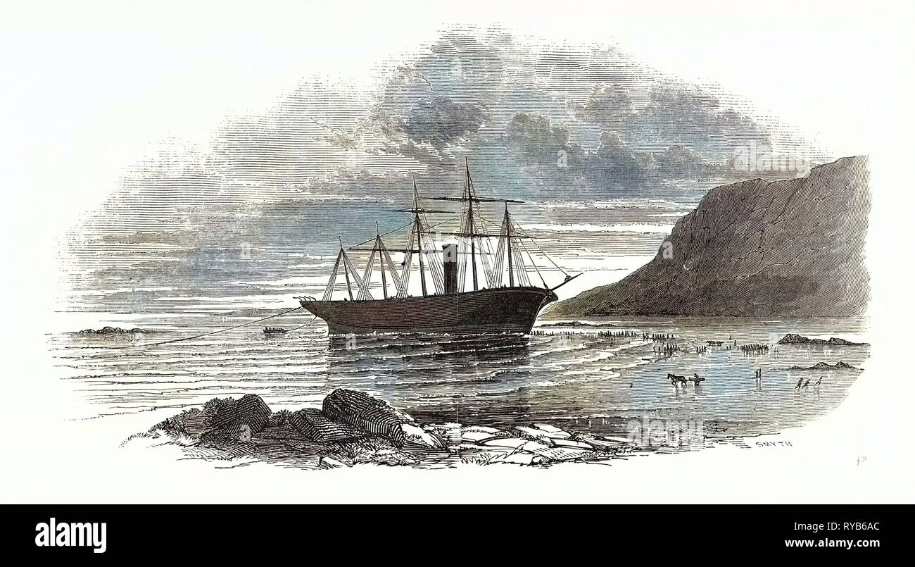 The Great Britain Steamship, Sketched on the Morning after She Went Ashore at Rathmullan, 1846 - Stock Image
