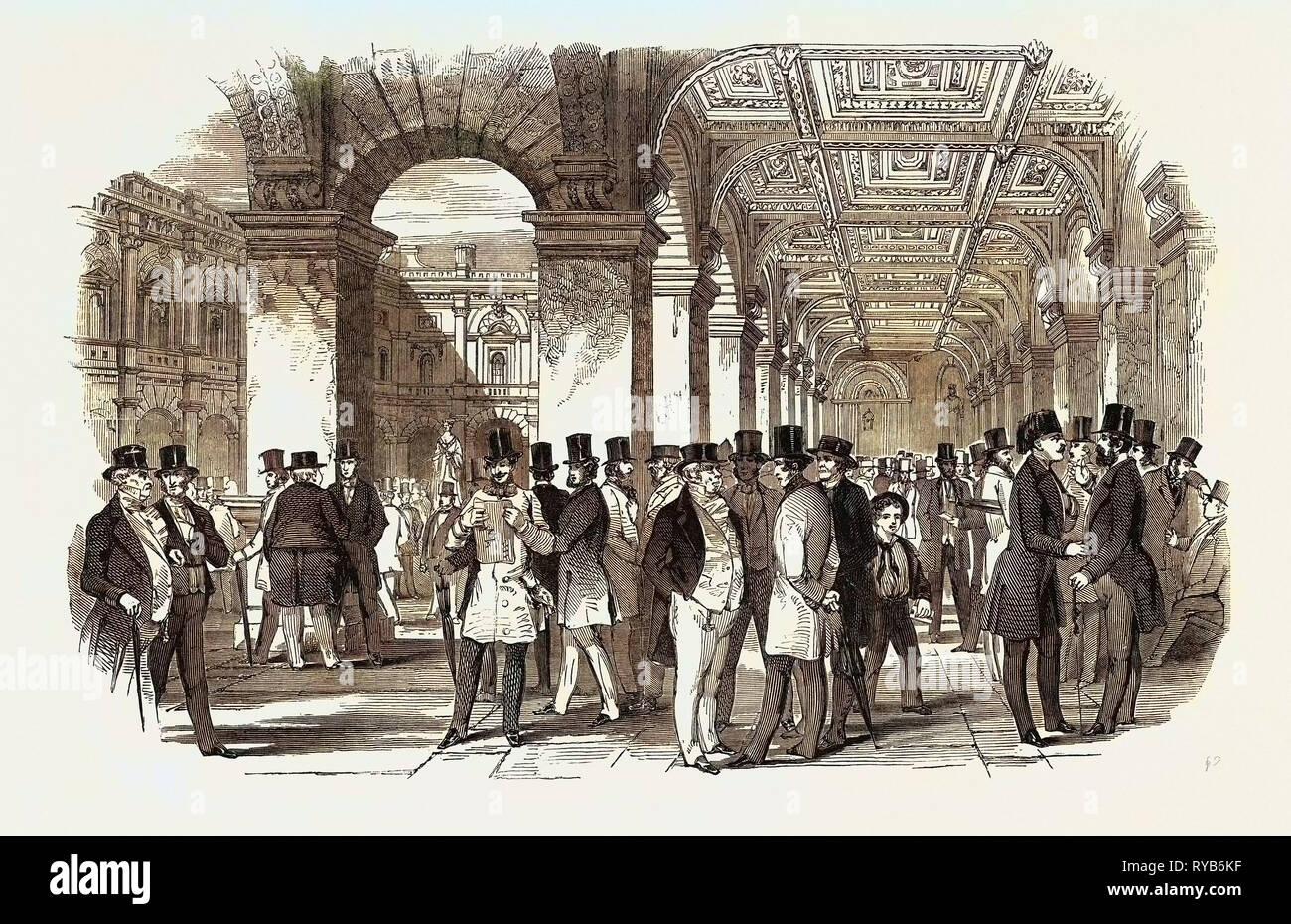 The Merchants' Walk (South West Angle), Royal Exchange. UK, 1847 - Stock Image