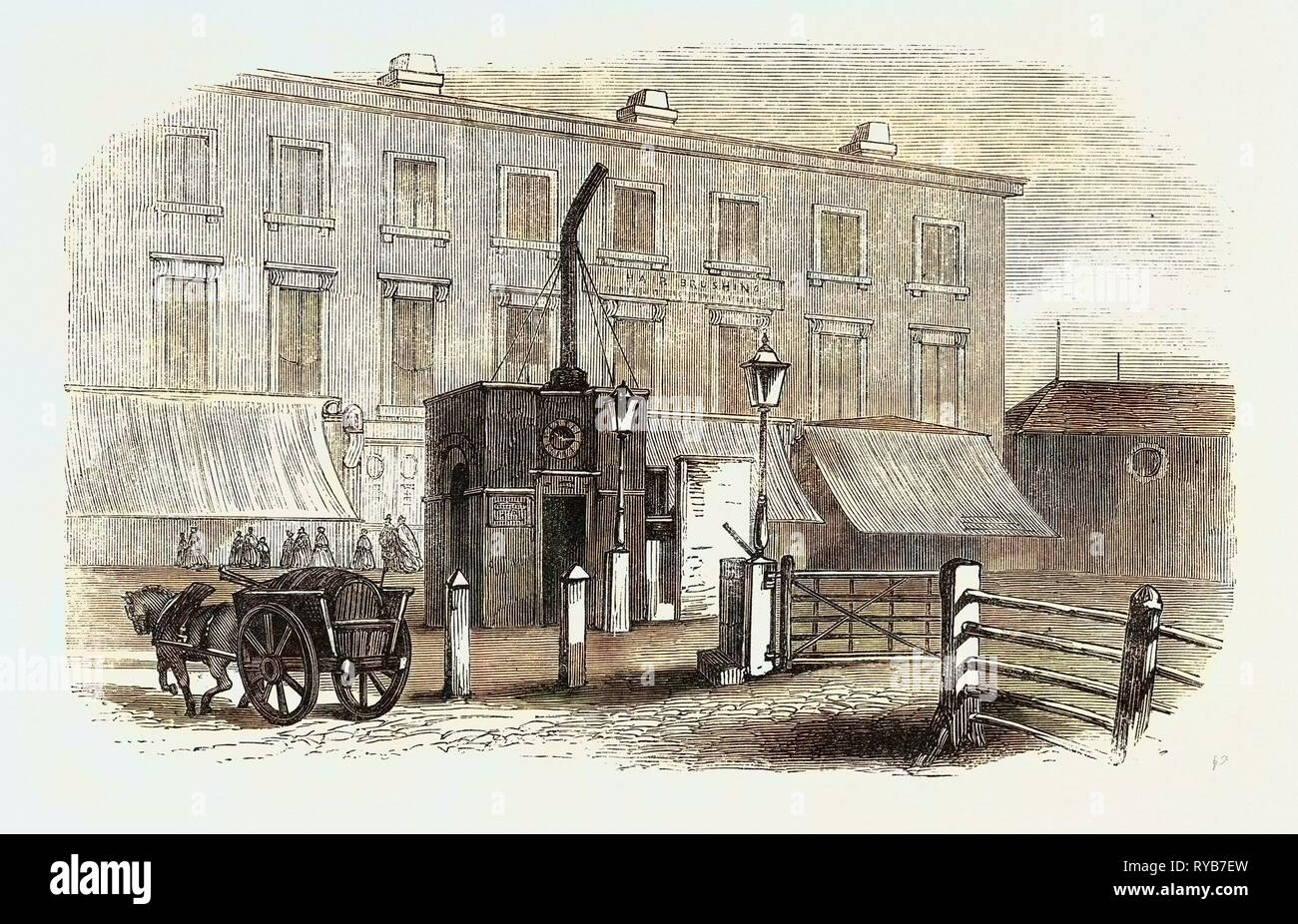 Turnpike Gates in and Near London Just Demolished: City Road Gate, UK, 1864 - Stock Image