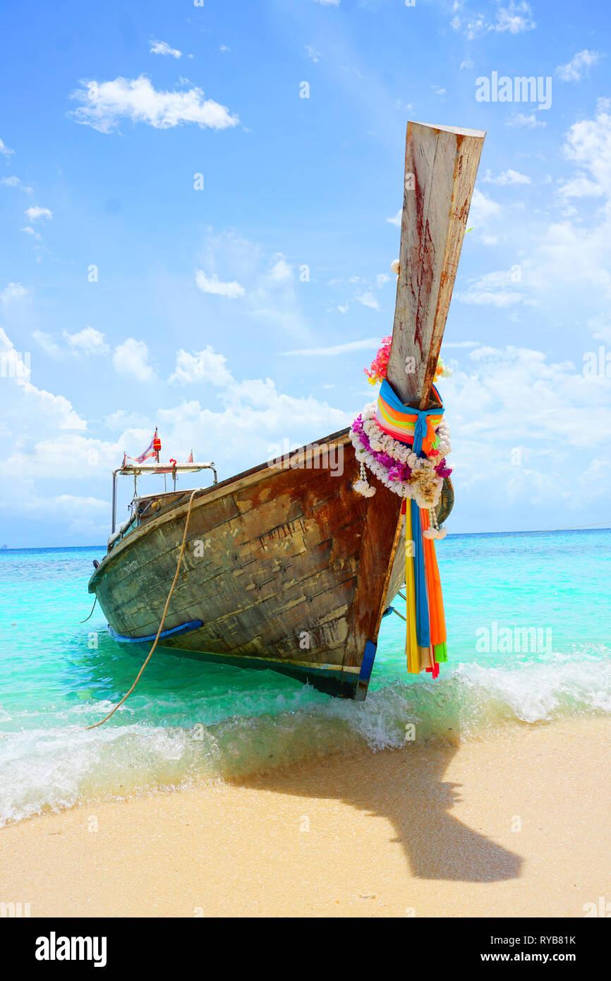 Travel background  Beautiful Thailand tropical sand beach