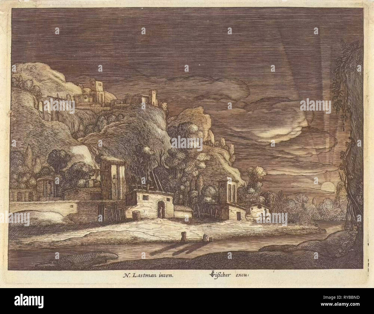 View of Bethany, Anonymous, Claes Jansz. Visscher (II), 1601-1652 - Stock Image