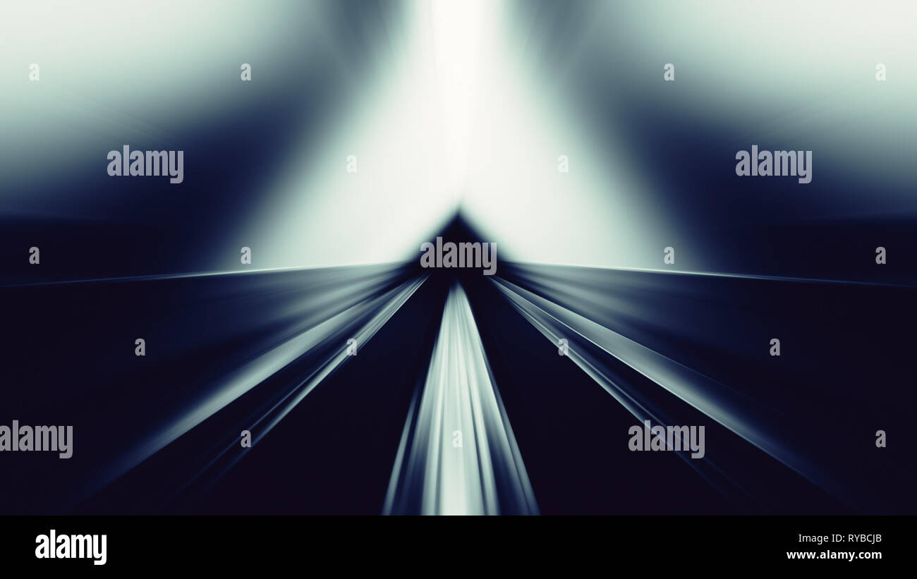 Blue glow blur lines abstract background Stock Photo
