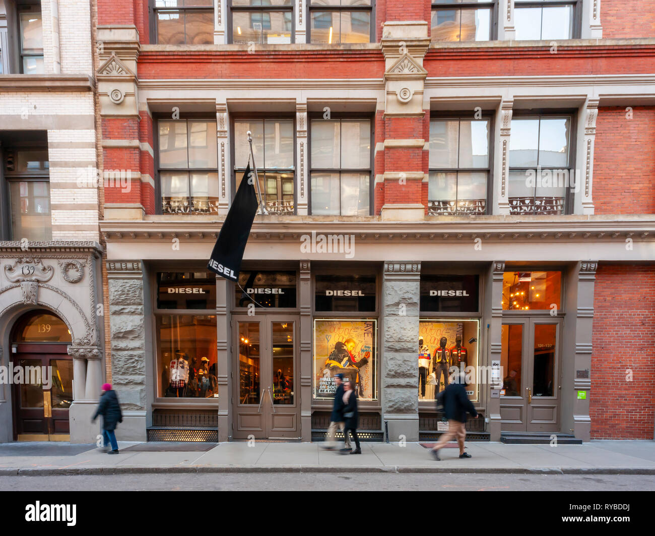 outlet store 1f96b 66095 The Diesel USA store in the New York neighborhood of Soho is ...