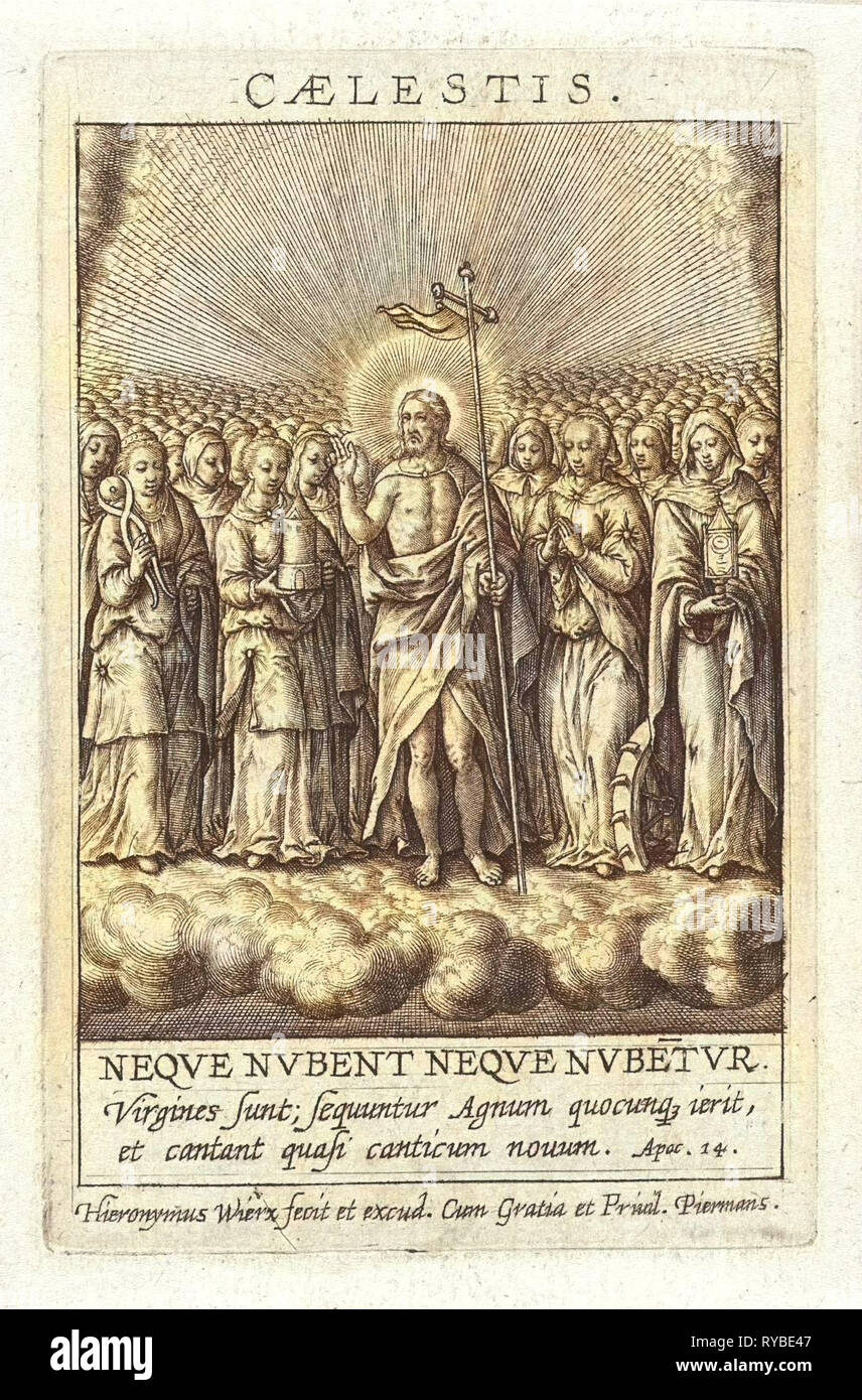 Virtue of Heaven, Hieronymus Wierix, 1563 - before 1619 - Stock Image