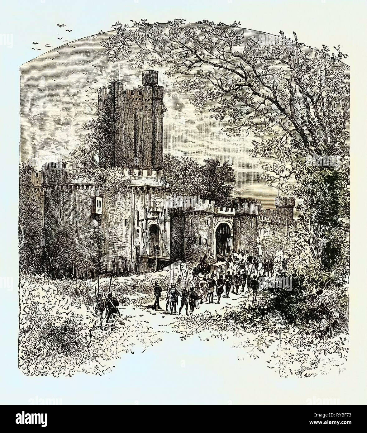 Feudal Castle in the Eleventh Century - Stock Image