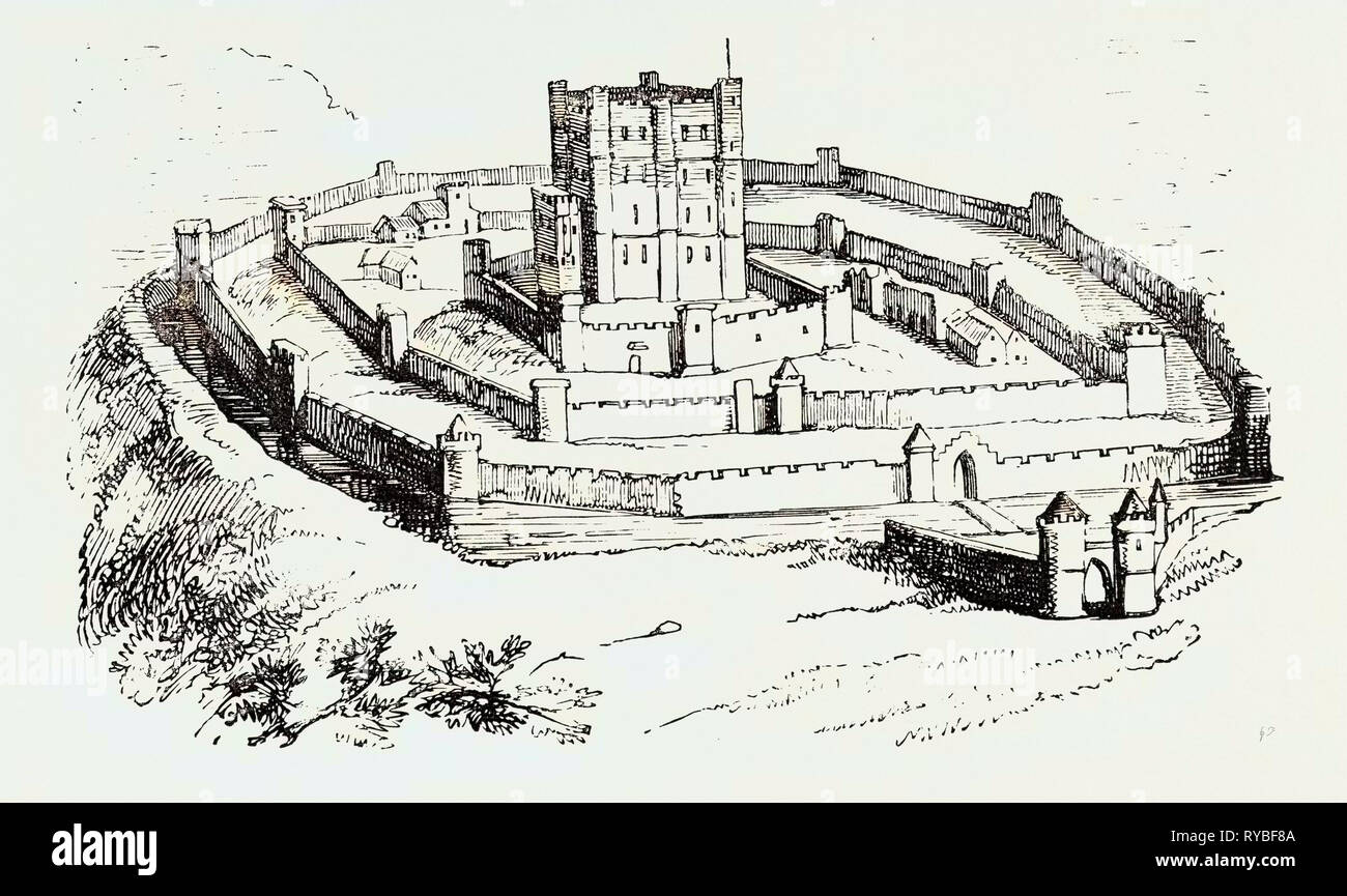 Feudal Castle of the Time of Henry II - Stock Image