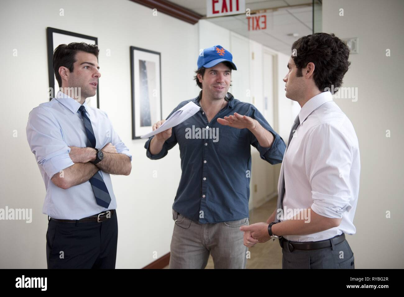 ZACHARY QUINTO, J.C. CHANDOR,PENN BADGLEY, MARGIN CALL, 2011 - Stock Image