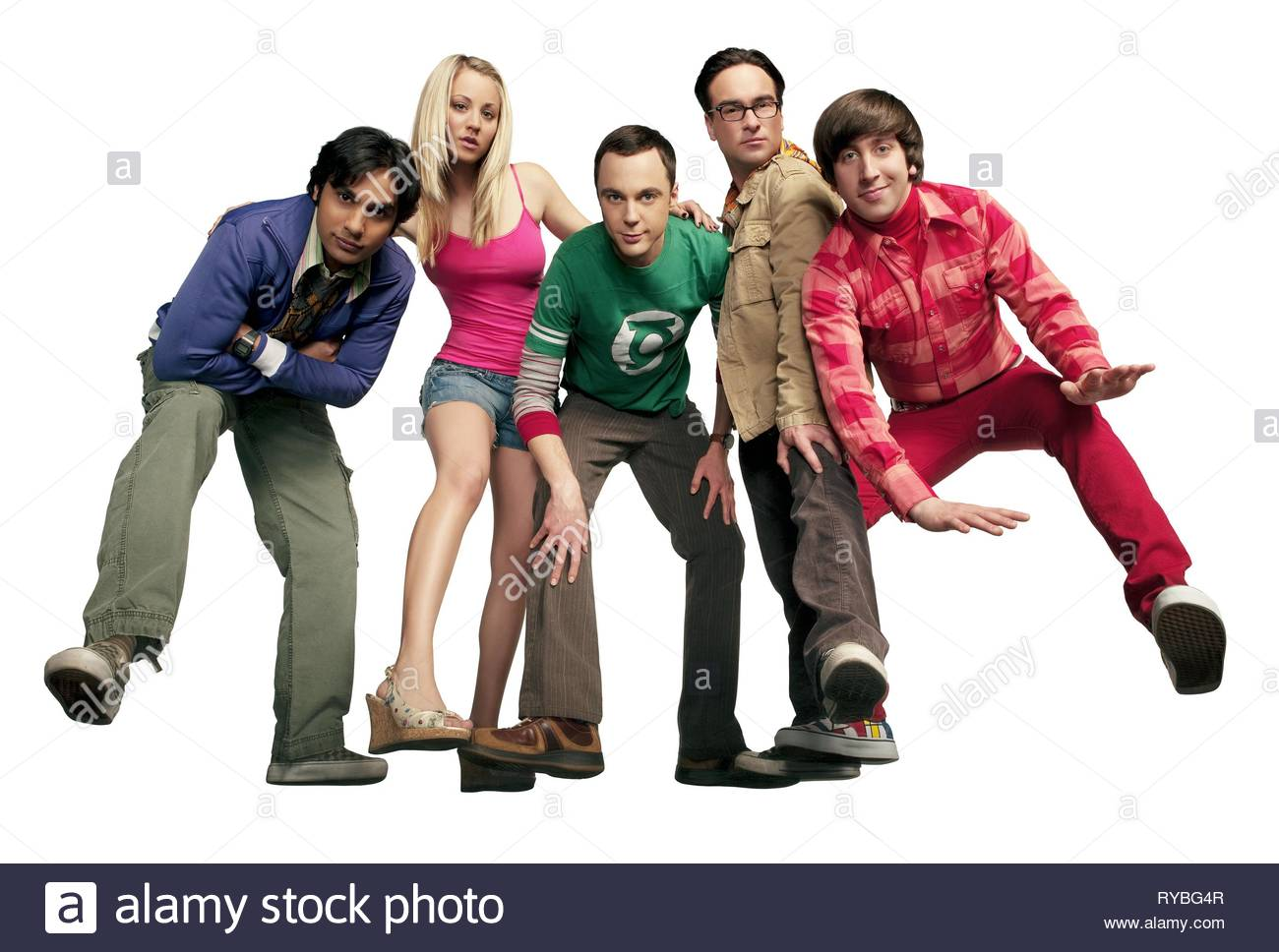 KUNAL NAYYAR, KALEY CUOCO, JIM PARSONS, JOHNNY GALECKI,SIMON HELBERG, THE BIG BANG THEORY, 2007 - Stock Image