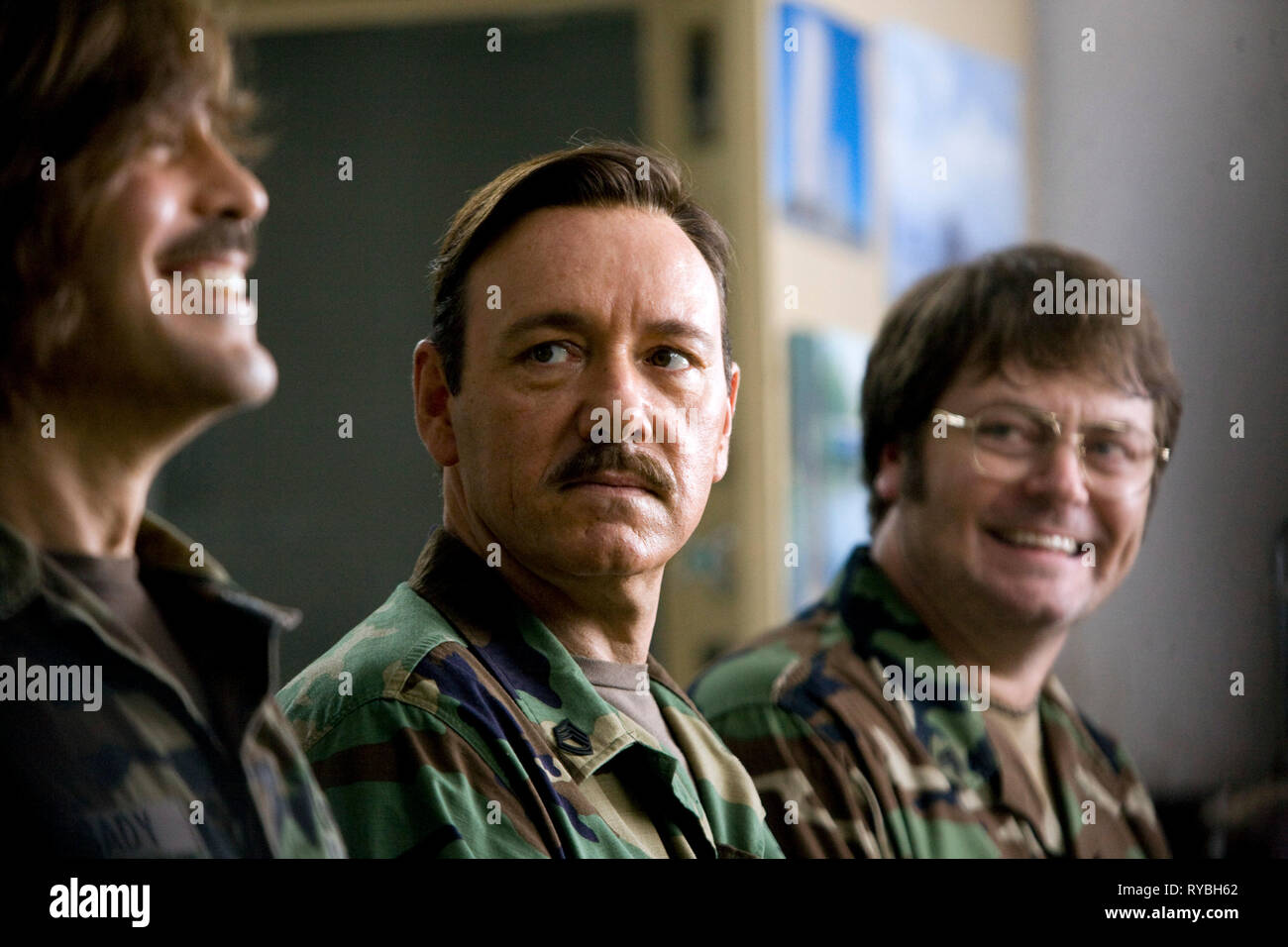GEORGE CLOONEY, KEVIN SPACEY,NICK OFFERMAN, THE MEN WHO STARE AT GOATS, 2009 - Stock Image