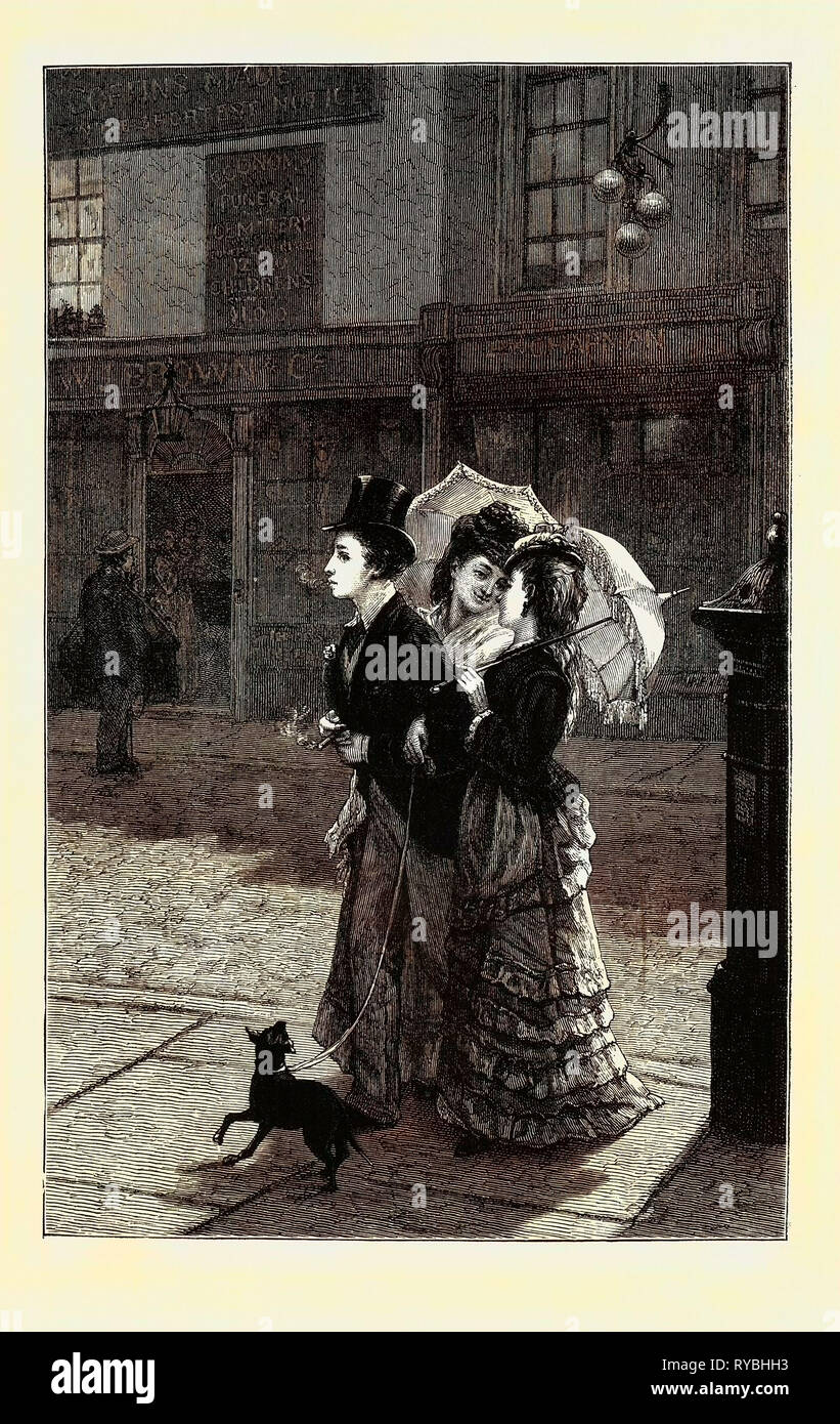 Our Good-Natured Cousin, from the Picture by A.E. Mulready - Stock Image