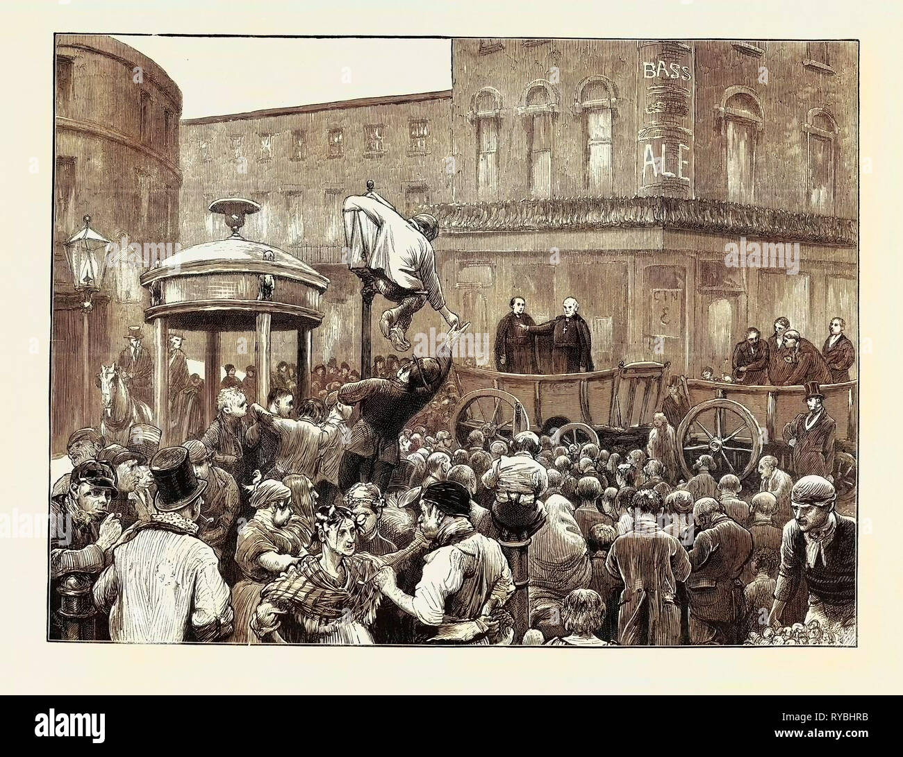Archbishop Manning Administering the Pledge on Clerkenwell Green - Stock Image