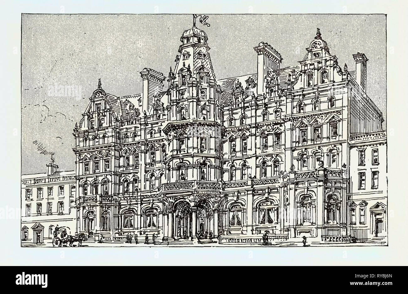 Weymouth: View of the Proposed New Grand Hotel Stock Photo