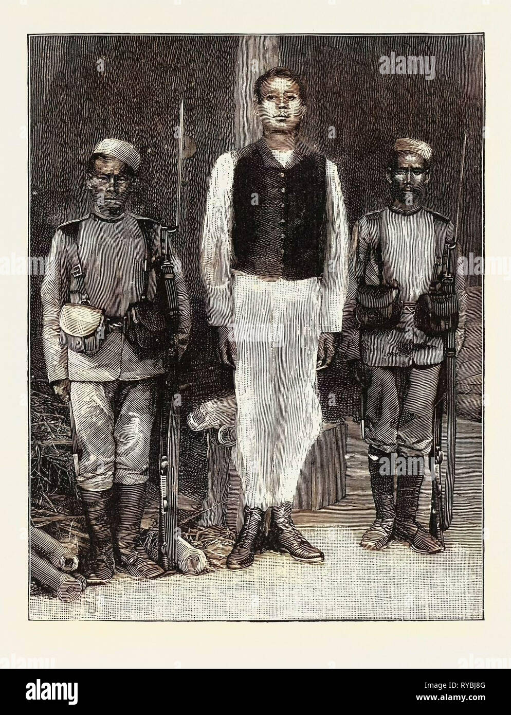 The Manipur Rebels: The Senaputty: Hanged for Murder of English Representatives - Stock Image
