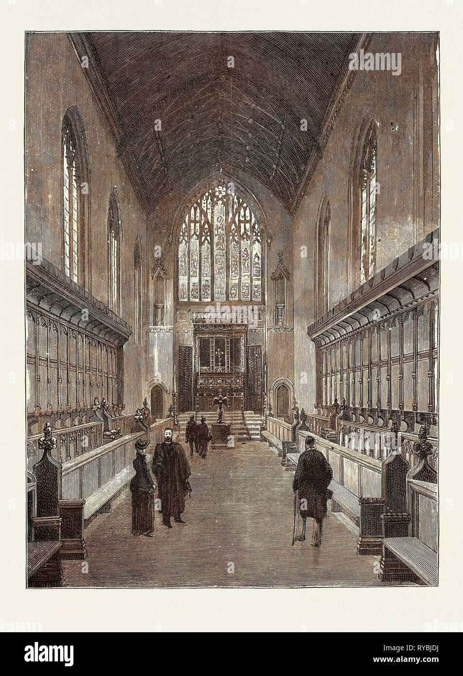 The New Chapel, Queen's College, Cambridge: The Entire Cost of which Has Been Defrayed by the Subscriptions of Members of the College and Their Connections - Stock Image