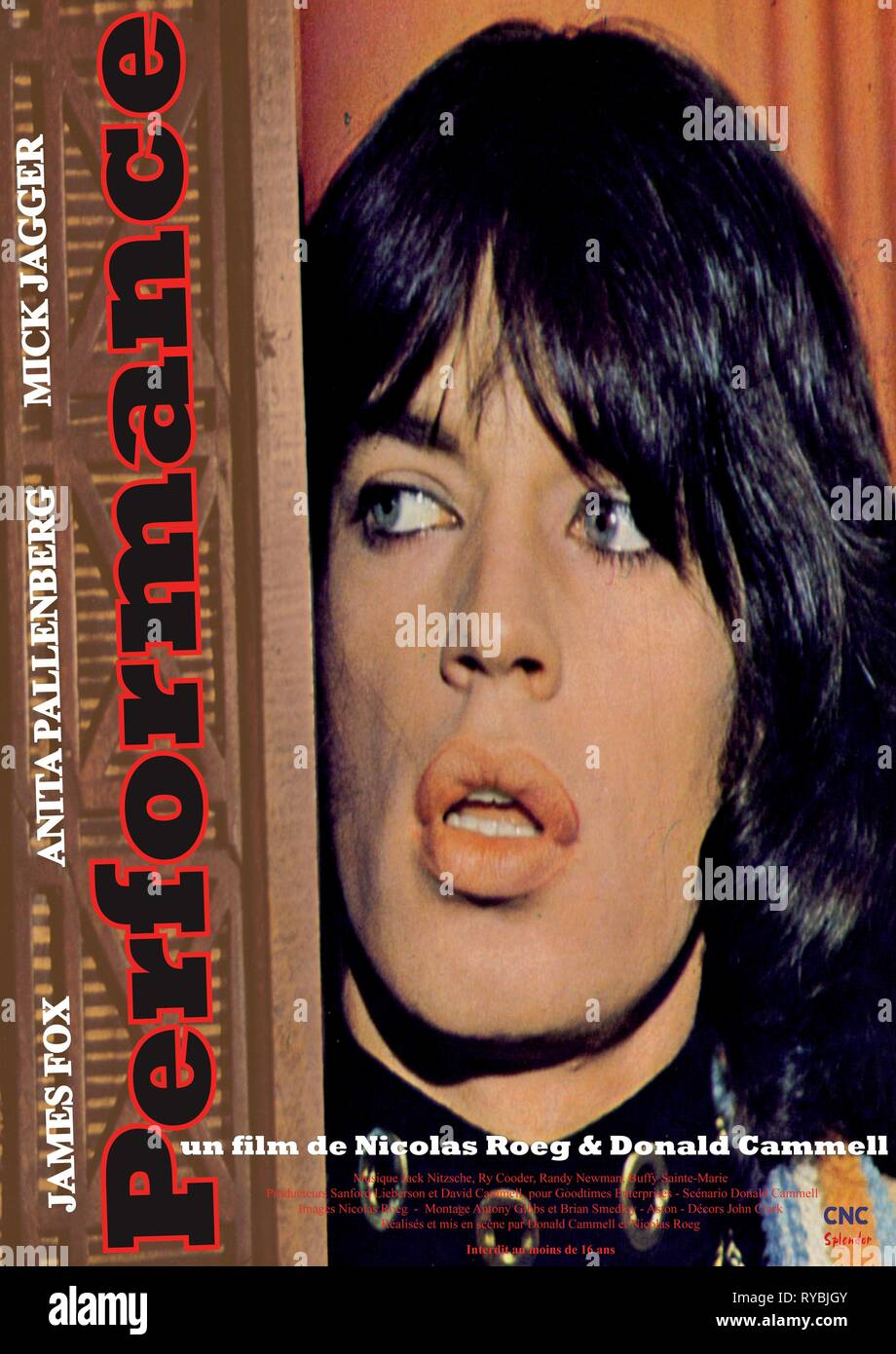 MICK JAGGER POSTER, PERFORMANCE, 1970 - Stock Image